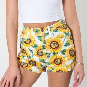 American Apparel high waisted sunflower shorts